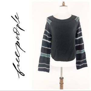 Free People Mixed Material Fairground Sweater